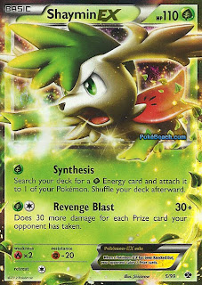 Shaymin EX Next Destinies Pokemon Card