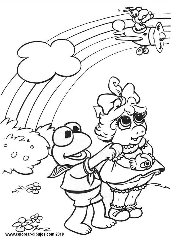 LAMINAS PARA COLOREAR  COLORING PAGES Muppets bebe para dibujar
