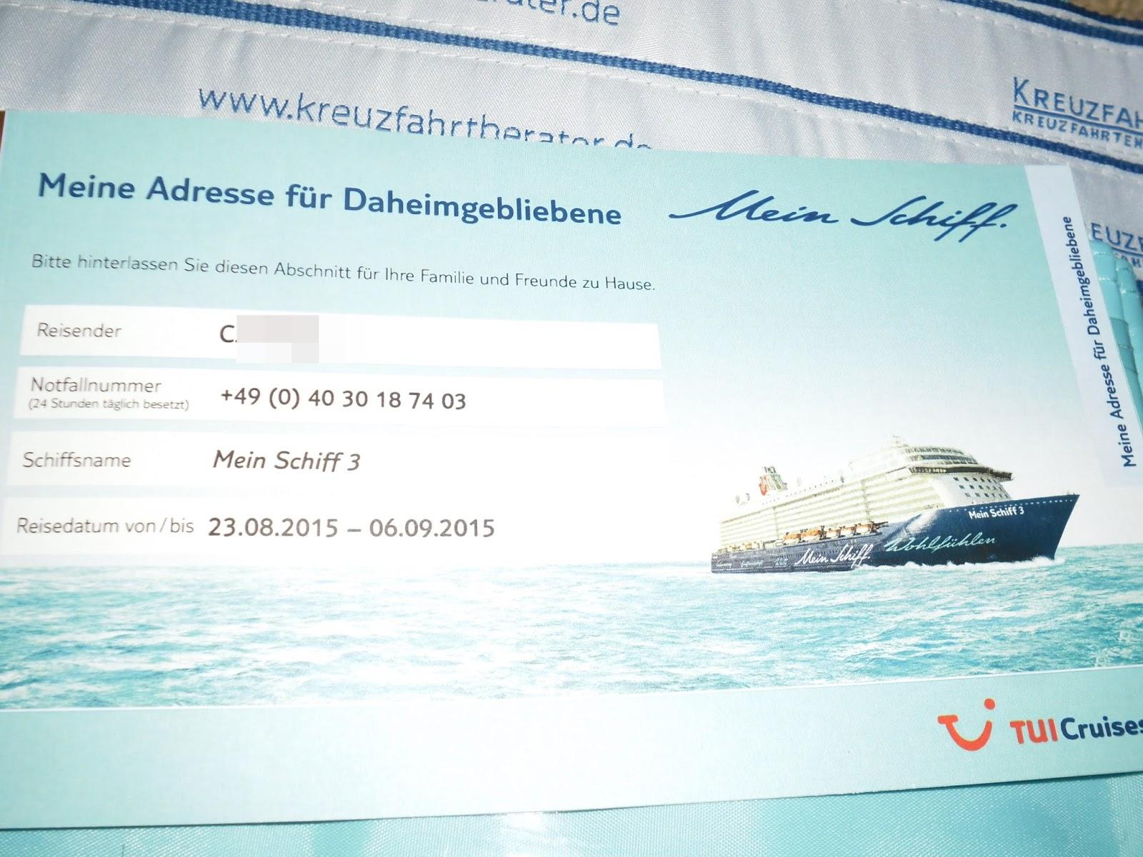 Kreuzfahrt-Tagebücher: 15.08.2015