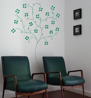 adesivos de parede para recepção