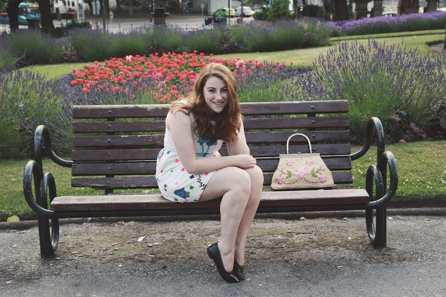 it's cohen: uk style blog - liverpool, st john's gardens, vintage fashion, floral dress, ootd