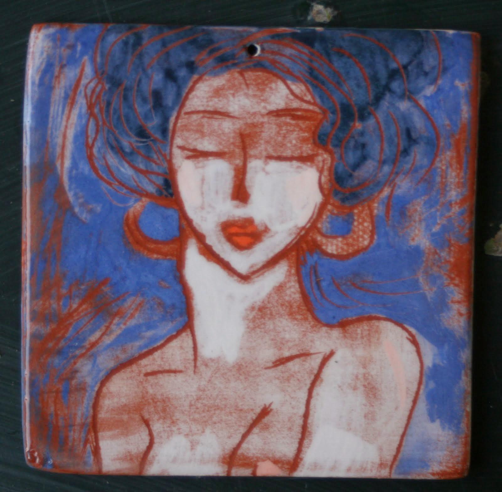 La femme aux cheveux bleus