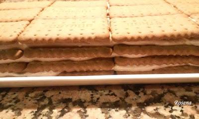 capas de galleta y trufa