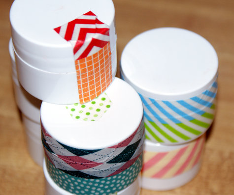 DIY Pretty Washi Tape Lip Balm Pots - Mango Red Shimmer Tinted Lip Balm Recipe