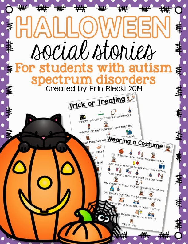 http://www.teacherspayteachers.com/Product/Halloween-Social-Stories-1526136