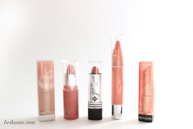 best drugstore nude lipsticks, fall smoky eye, lipstick for smokey eye, mauve lipstick, jordana lipstick, nyc lip color, revlon lip butter, neutrogena tinted lip balm, maybelline lipstick