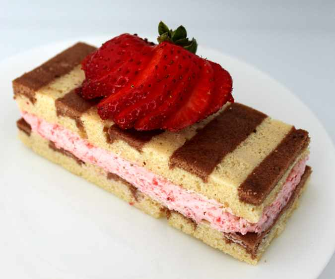 Strawberry Mousse with Joconde Cake | Flourtrader