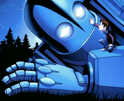 The giant asleep in The Iron Giant