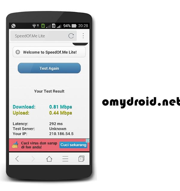 Ukur Kelajuan Internet Tanpa Aplikasi (Android)