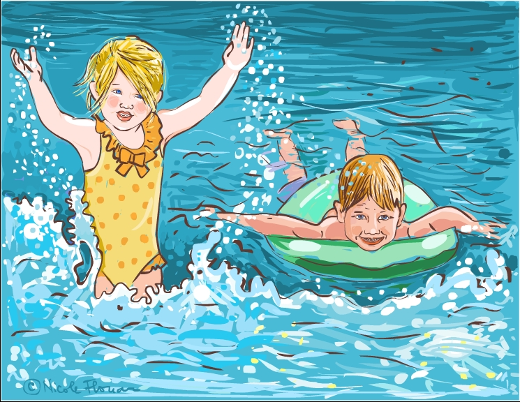Nicole\'s Free Coloring Pages: Summer time! Coloring page