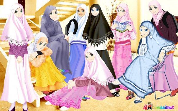 Animasi Pesta Ala Gadis Muslimah Gambar Cewek Sholihah 377 Animasi