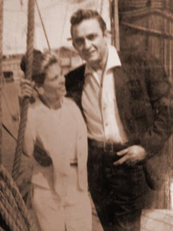 Johnny Cash With His First Wife