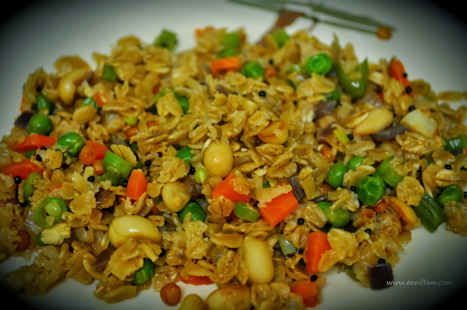 Healthy oats upma
