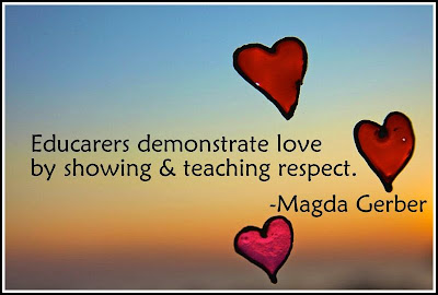 educarers demonstrate love by showing and teaching respect