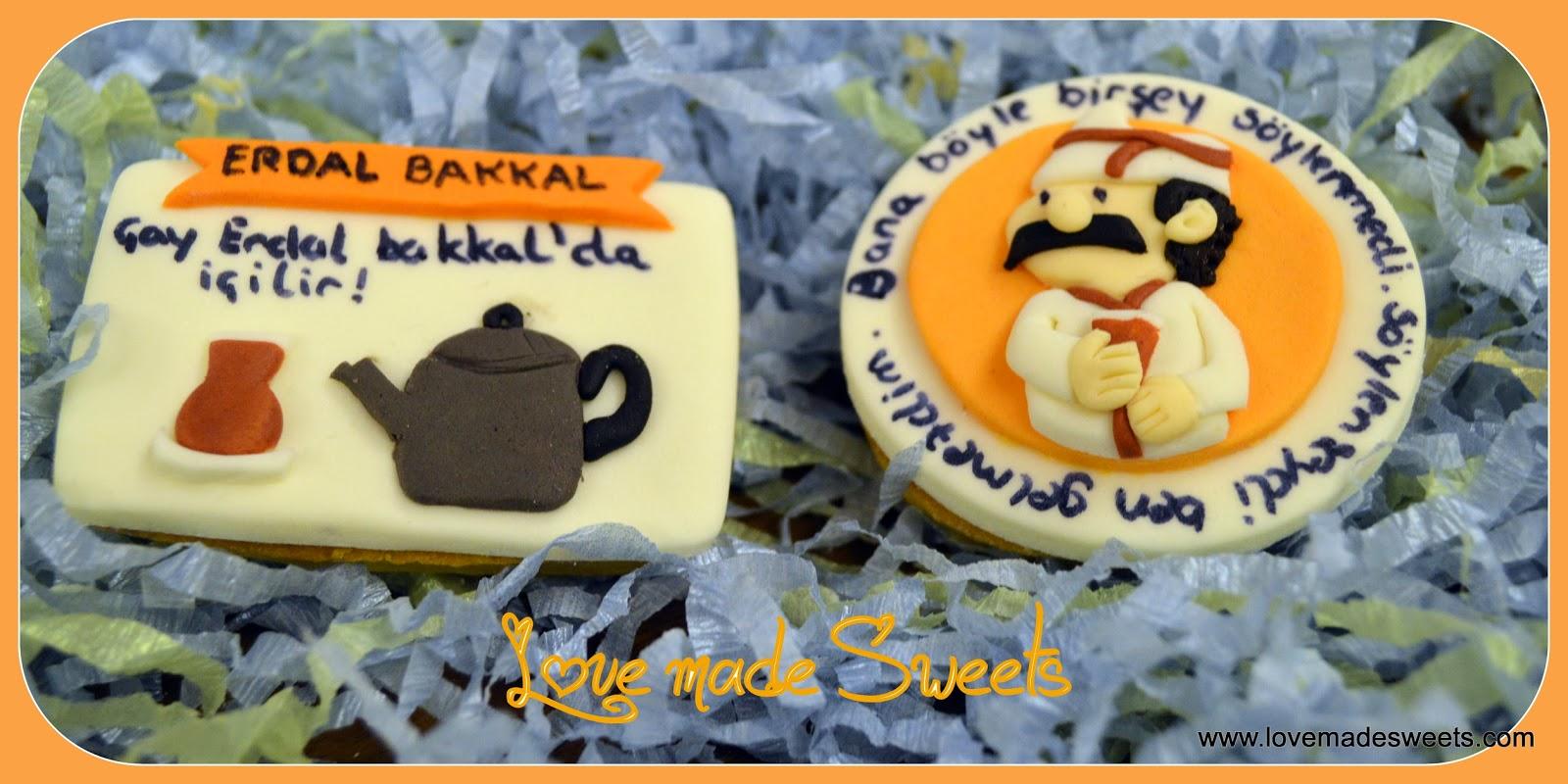Çay Erdal Bakkal'da içilir Temalı Kurabiye