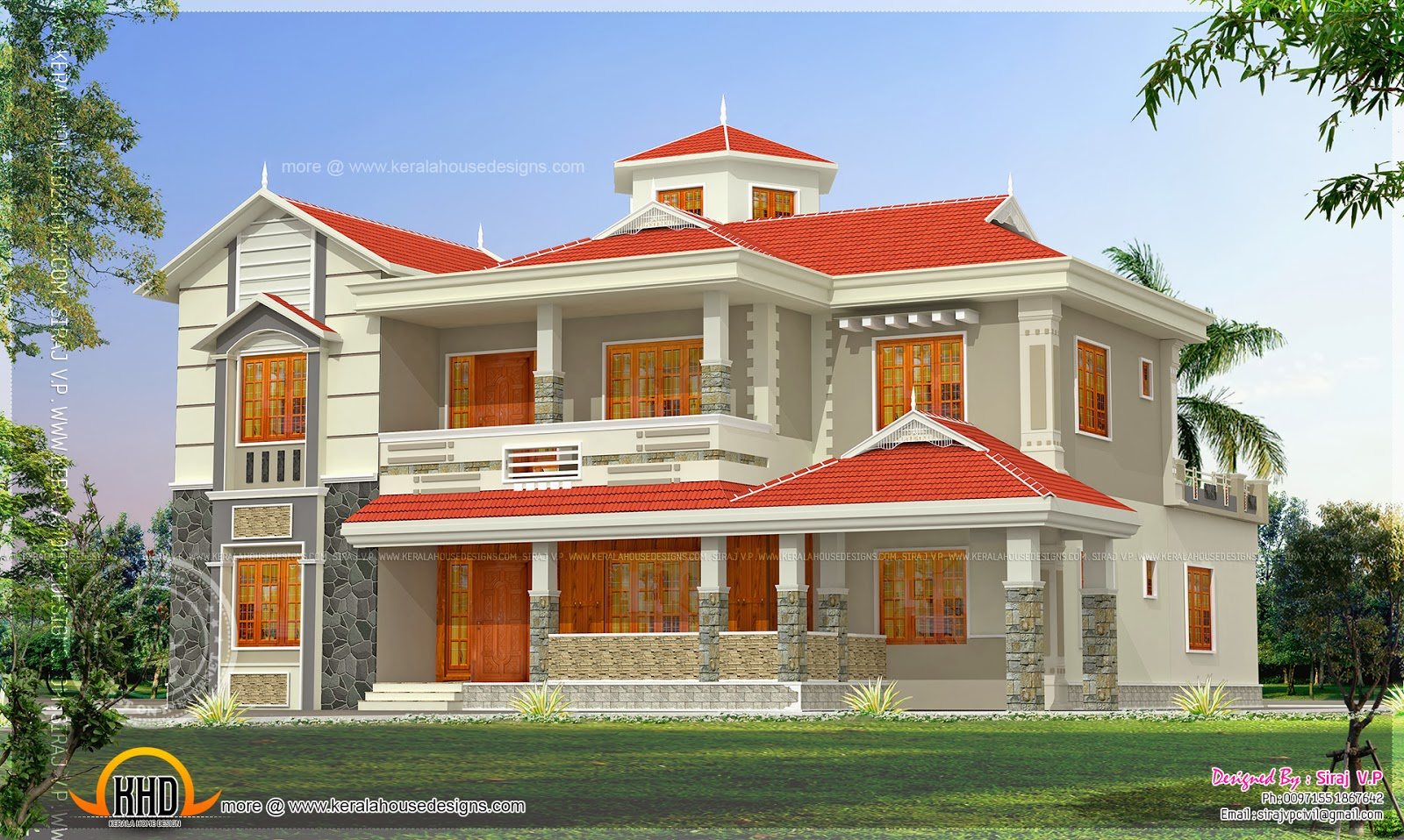 House elevation in 300 square meter indian house plans - Houses atticsquare meters ...