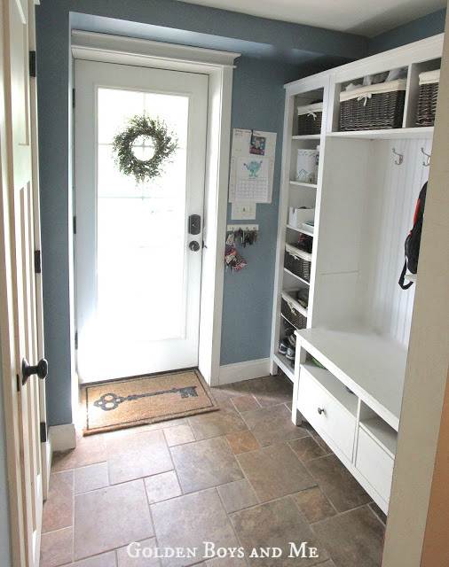 Mudroom Wall Storage Unit : Golden boys and me mudroom repurposed ikea hemnes