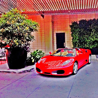 Red Ferrari at the w Hollywood
