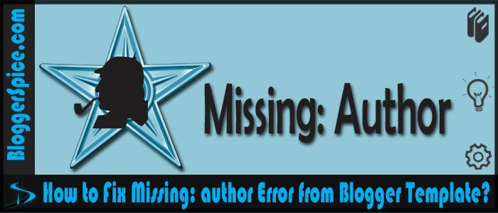 Missing:author error