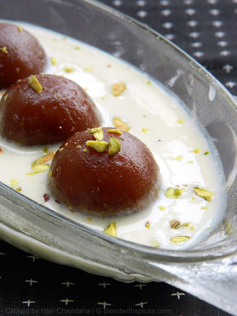 rabri gulab jamun recipe, how to make rabri jamun
