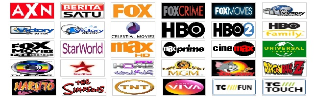 Siaran TV Online Luar Negeri yang terdiri dari 14 siaran (Channel)
