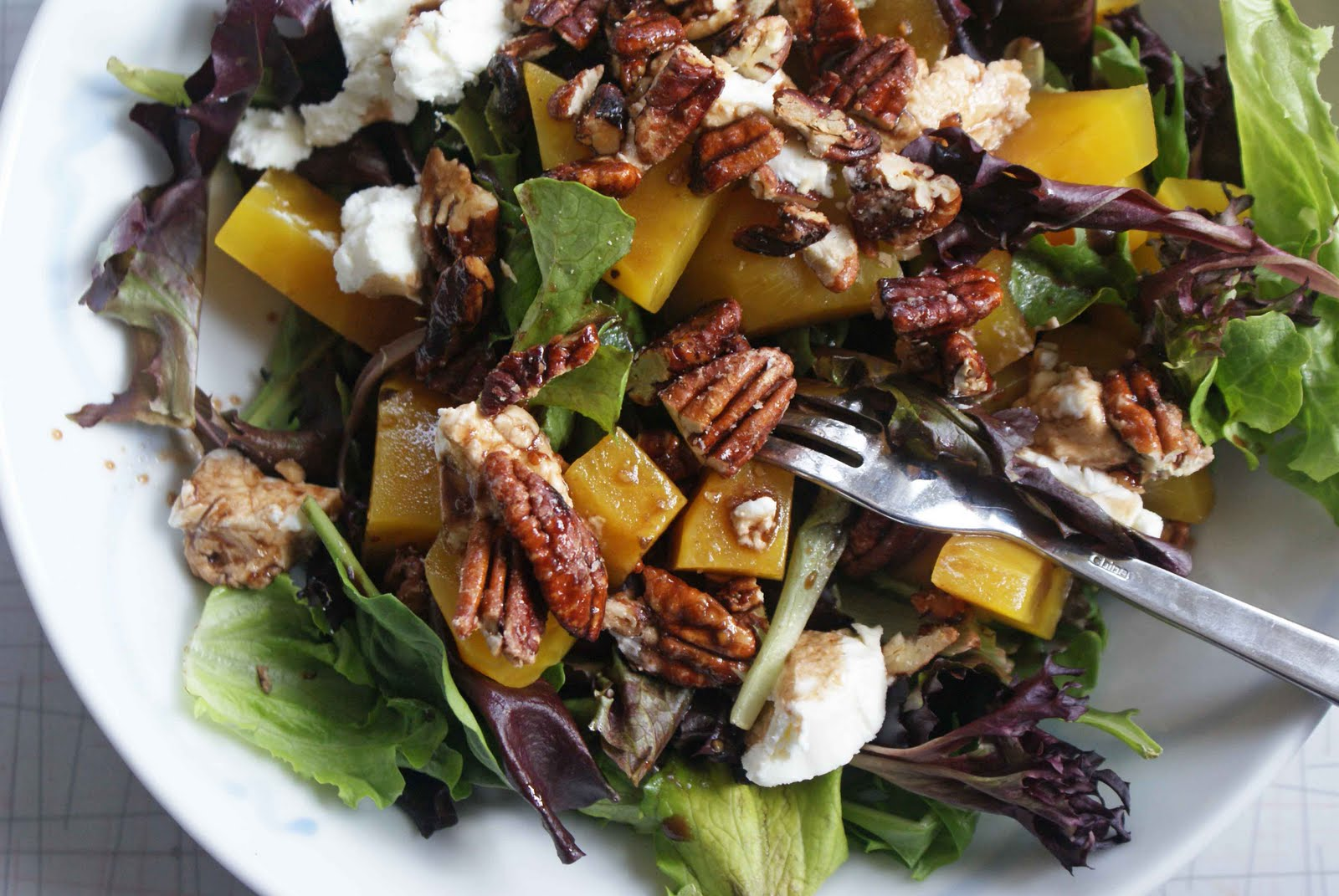 Salad with Roasted Beets, Goat Cheese & Sugared Pecans - Dinner With ...