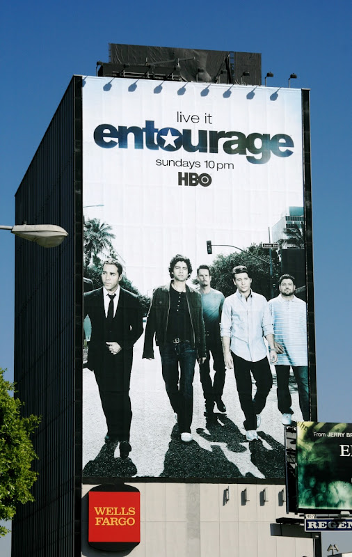 Giant Entourage season 5 billboard