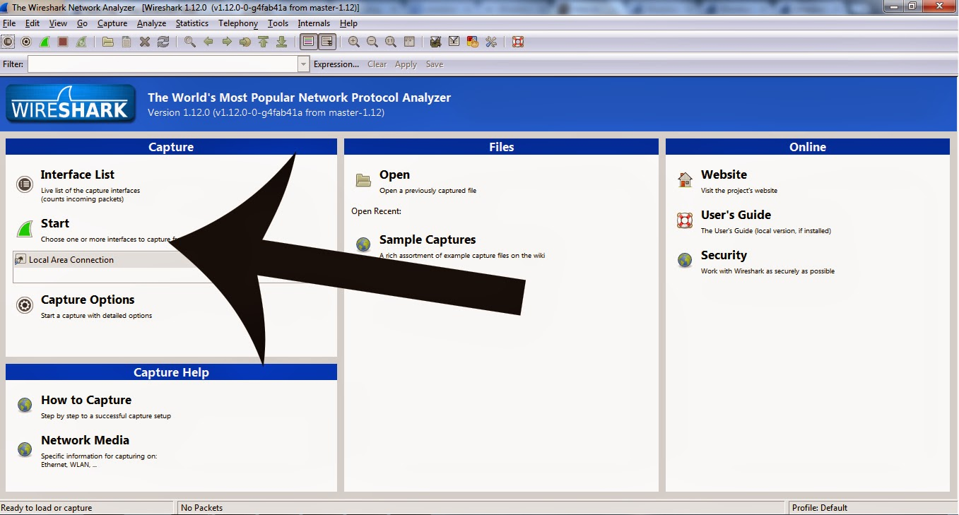 how to use wireshark with virtualbox