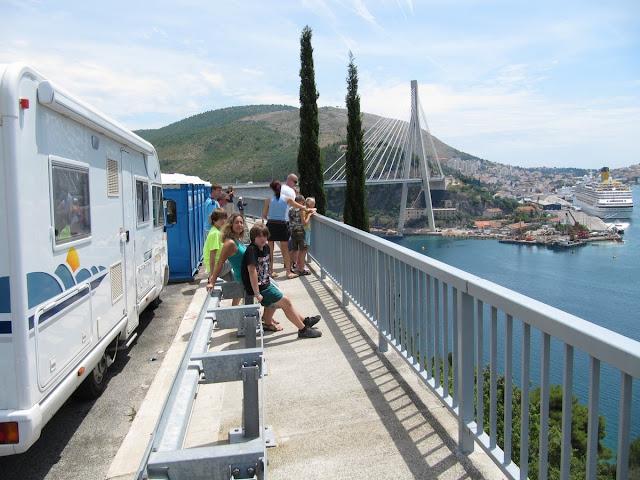 puente nuevo de Dubrovnik, area de carretera de Dubrovnik