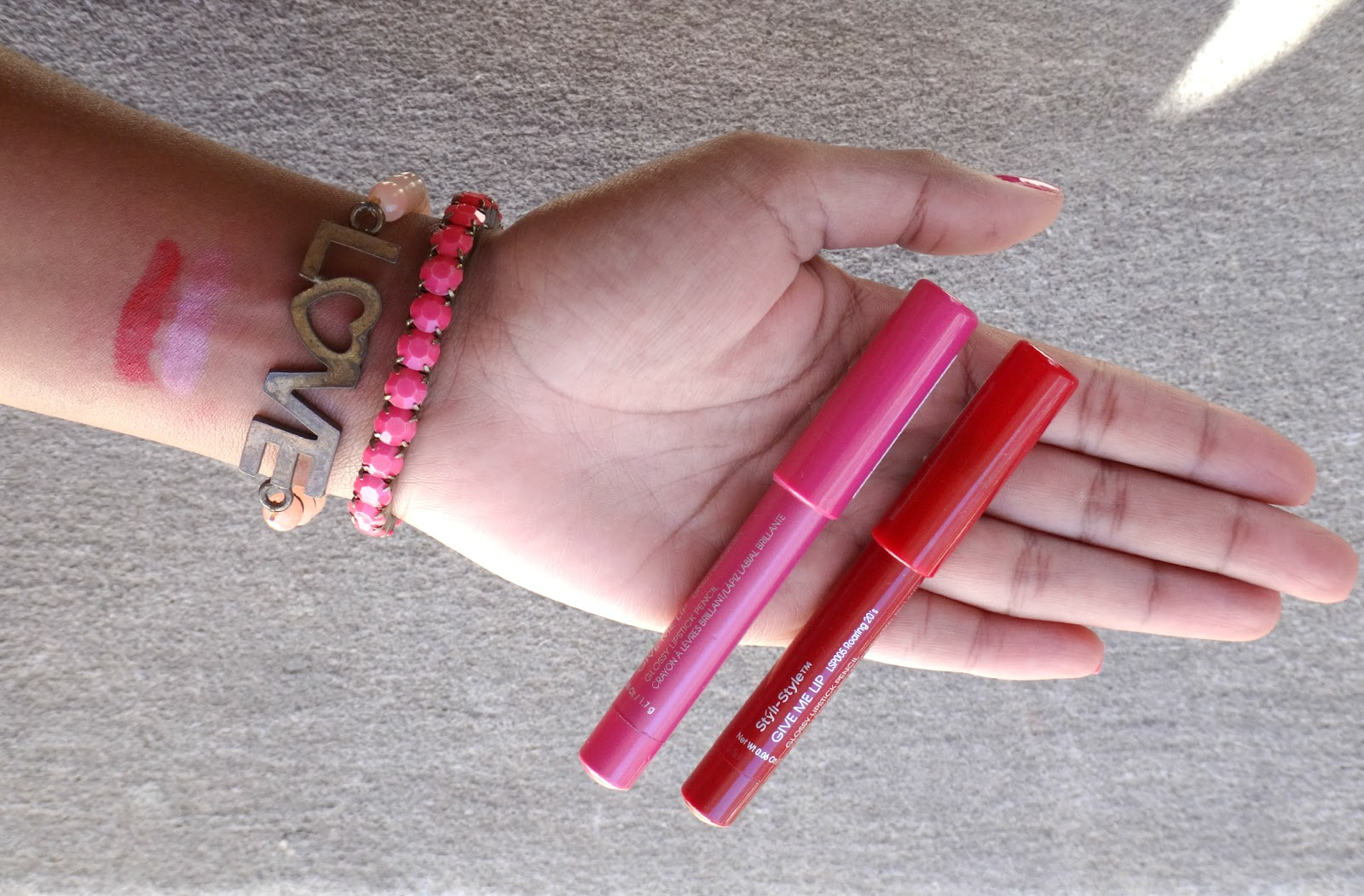 styli style give me lip swatches