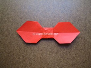 This Bow Tie Is Folded By Using One Sheet Of Paper Here The Origami Simple Instructions