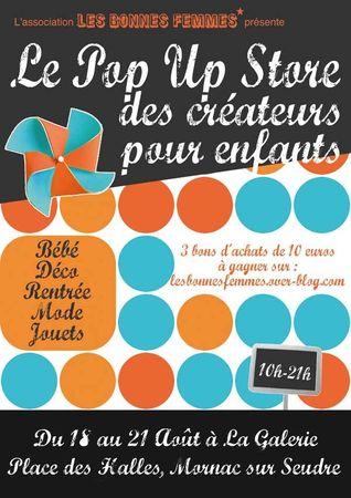 Flyer Pop Up store Les Bonne Femmes - participation CocoFlower