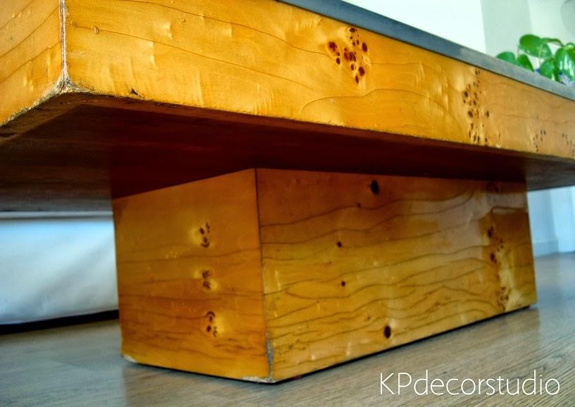 Mesas rectangulares de madera para el café. Mesitas bajas de centro.