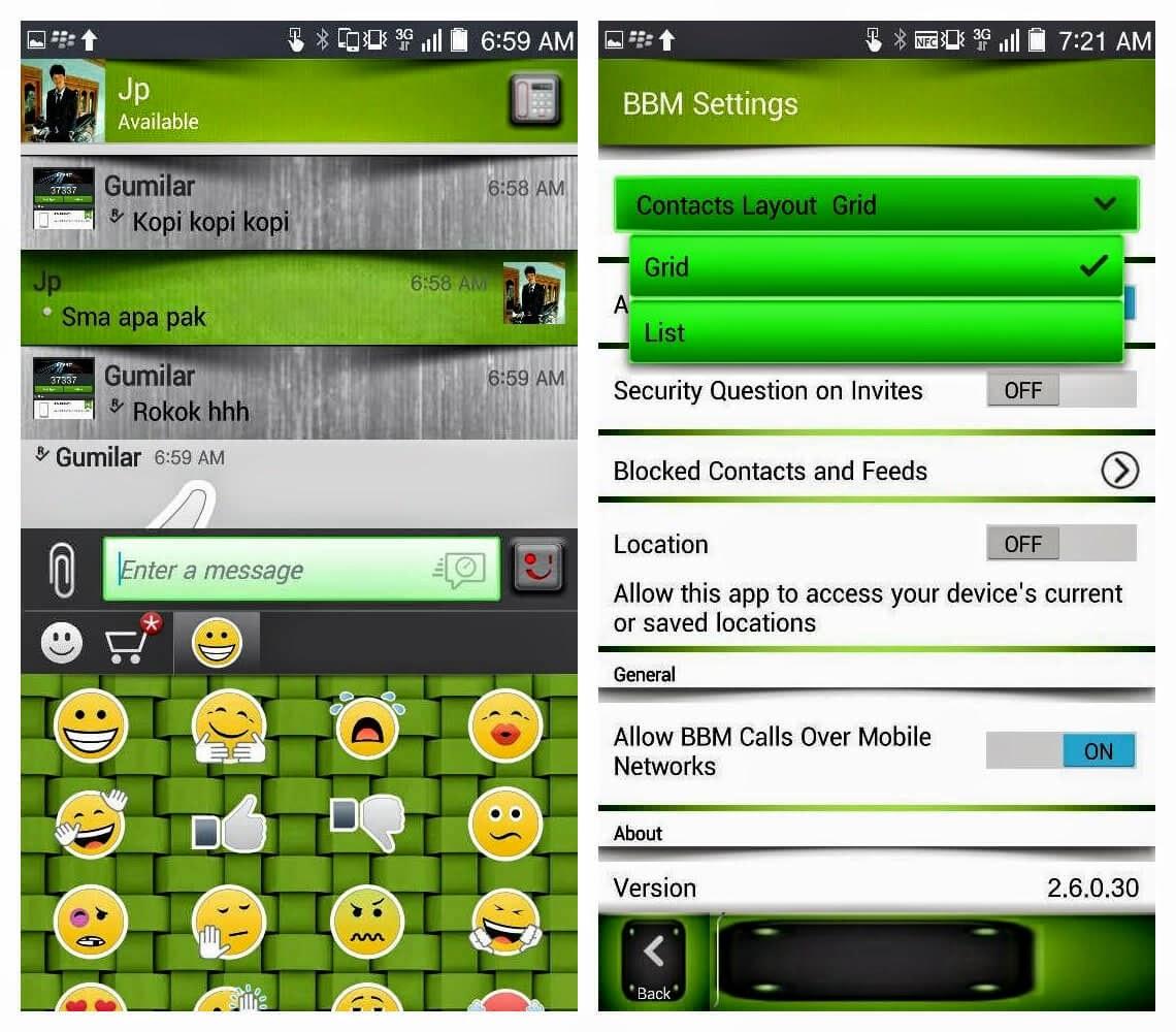 BBM Mod Green + Shadow