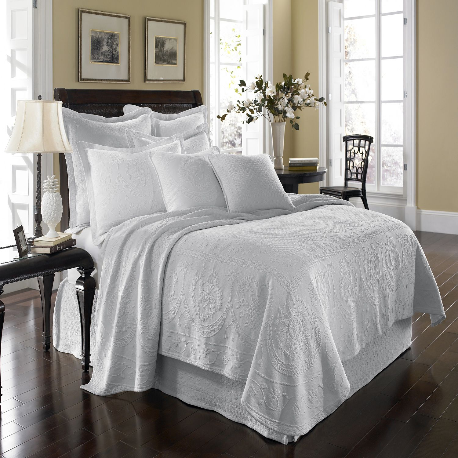 Popular Matelasse is ridiculously luxurious and matches everything King Charles Matelasse Coverlet from Sears