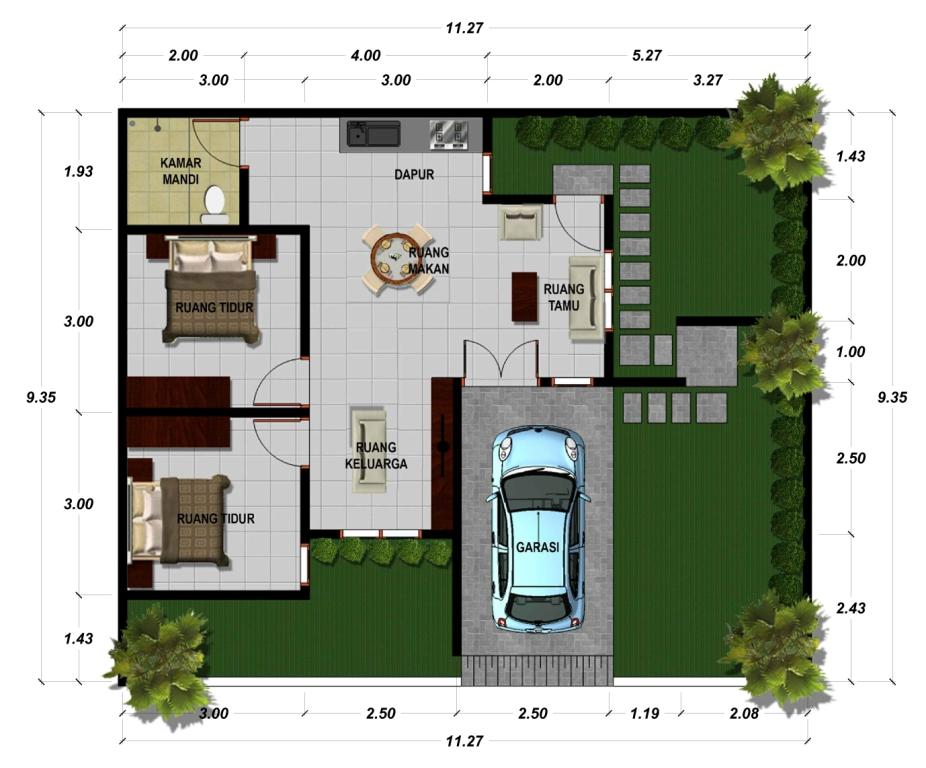 ... rumah desain tradisional limasan jawa Rumah Bali Ungasan Dijual 52 tipe Denah 120 .jpg Bali