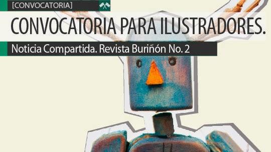 Convocatoria para ilustradores. Revista Buriñón No. 2