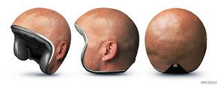 capacete cabeça careca