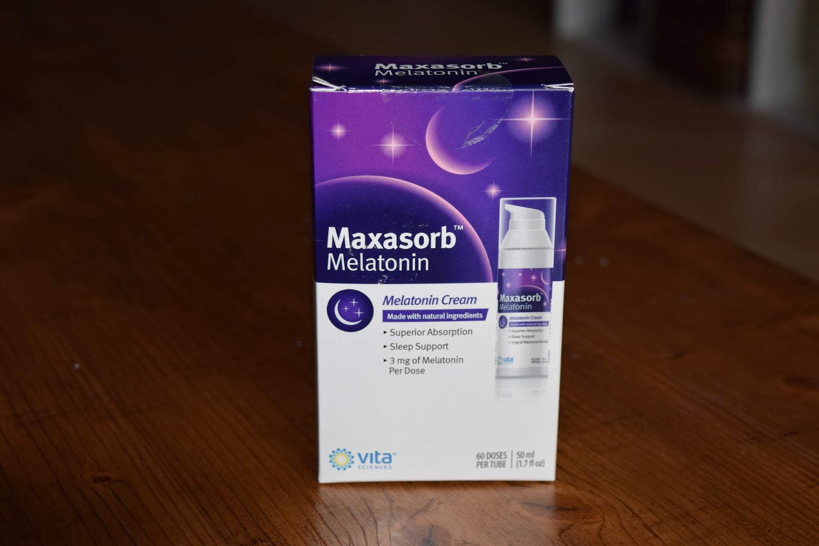 melatonin cream, vita sciences, maxasorb melatonin