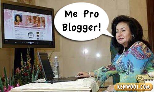 rosmah using computer