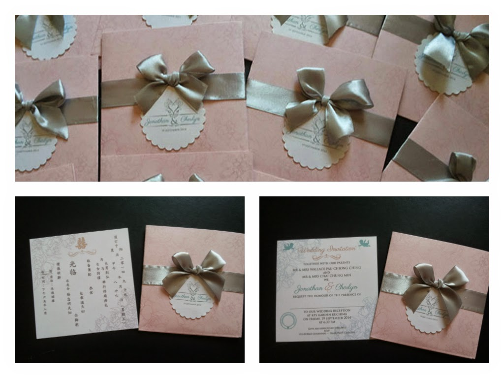 Elegant vintage wedding pocket card malaysia