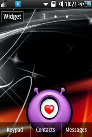 Other Cute, Purple Smiley Samsung Corby 2 Theme Wallpaper