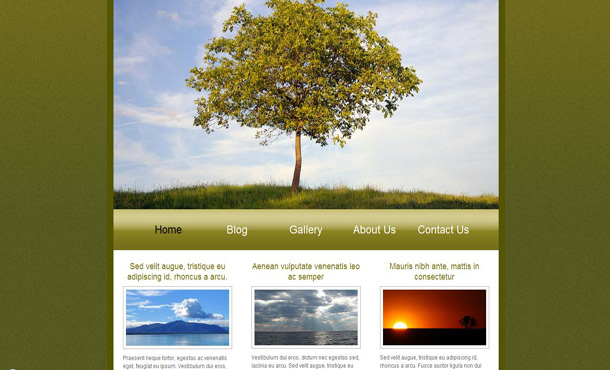 Free Abstract Green Nature Website Template