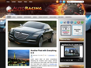 Free AutoRacing WordPress Theme