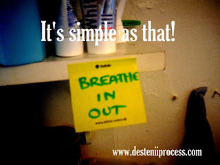 It's simple as that; post-it note