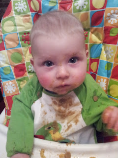 weaning, highchair, 5 month old baby