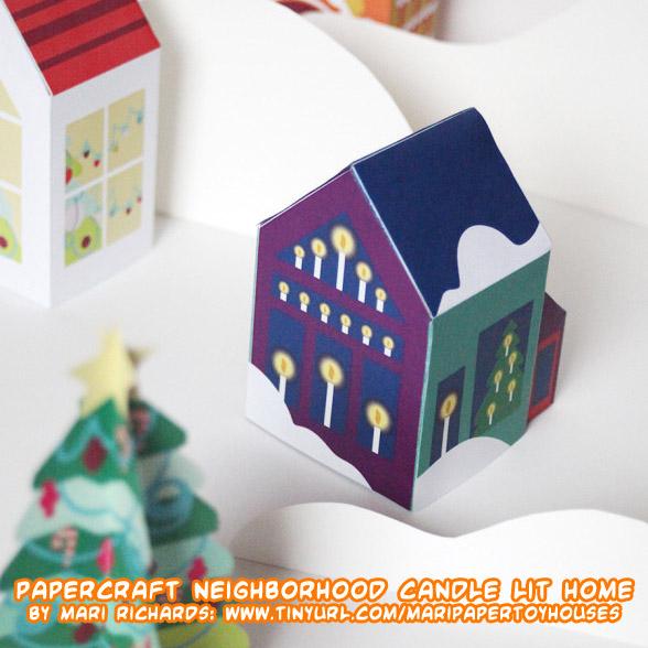 Ninjatoes 39 papercraft weblog papercraft winter holidays for Paper craft home