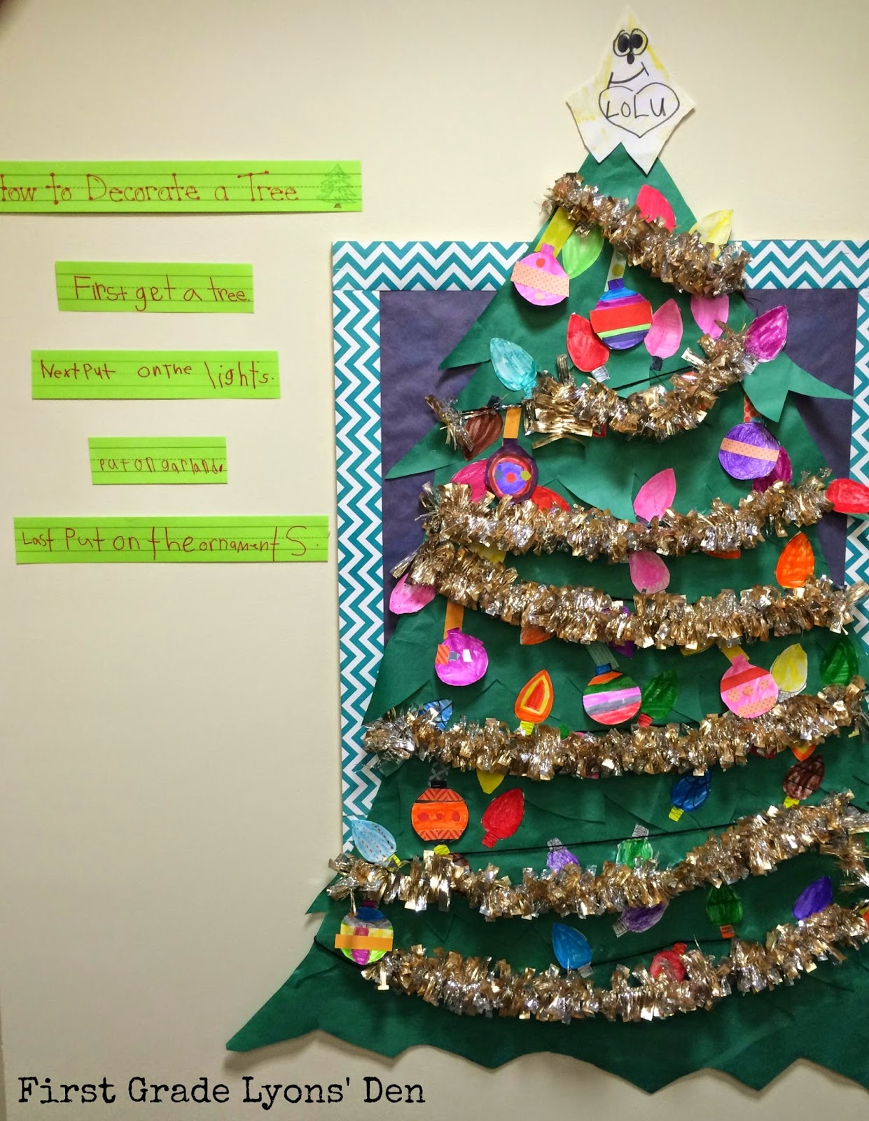 Decorate the christmas tree fa la la la - We Completed Interactive Writing Where They Had To List The Steps I Also Introduced Sequencing Words And We Used Them In Our Writing Here S How Our Tree