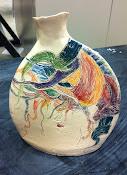Slab built Vase