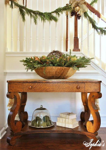 Decorating Foyer Table For Christmas : Sophia s christmas home tour